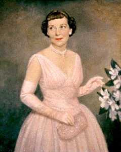 Mamie Eisenhower in her inaugural gown.