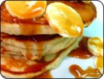 Banana Pancakes with Toffee Sauce