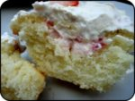 Strawberries and Cream Cheese Cupcake – What more is there to say?